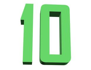 yeşil renkli 10