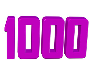 pembe renkli 1000