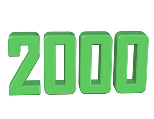 yeşil renkli 2000