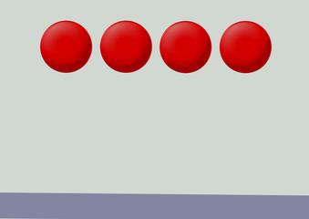 kırmızı buton menü