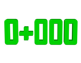 yeşil renkli 0+000