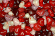 Red, white and pink heart candy