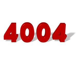 kırmızı renkli 4004 sayısı