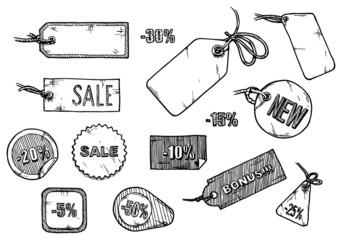 Sale labels set