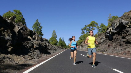 Running fitness sport people - Runners man and woman