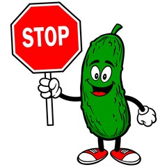 Pickle with Stop Sign