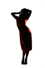 Silhouette of Chinese woman