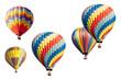 Leinwandbild Motiv A Set of Hot Air Balloons on White
