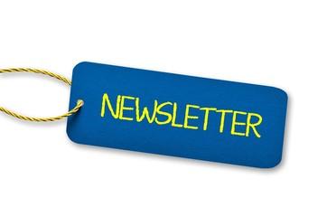 Newsletter - Label blau