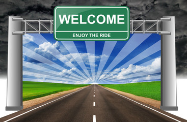 welcome enjoy the ride