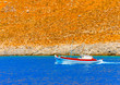 Leinwanddruck Bild - traditional fishing boat at Kalymnos island in Greece