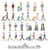 様々な人々のイラスト / 家族