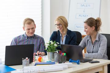 Pleasant atmosphere in modern office