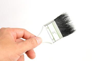 New paint brush isolated on white background.