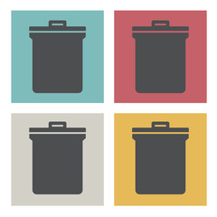 Unwanted Data Computer Trash Waste Icon Vector Concept