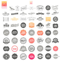 Premium Quality Guarantee Vector Label set
