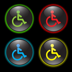 wheelchair vector icon
