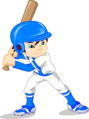 cute boy baseball player