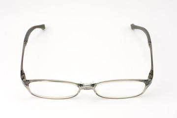 プラスチックフレームの眼鏡