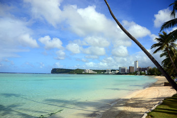 Tumon Bay located Tamuning, Guam