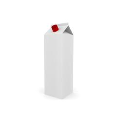 White blank milk box