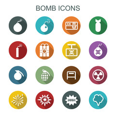 bomb long shadow icons