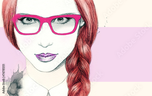 woman in glasses - 76781351