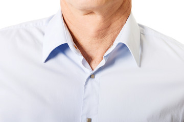 Closeup on male shirt with collar