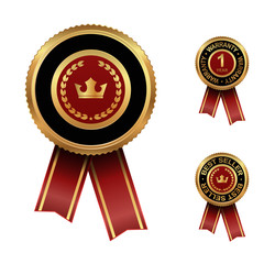 award label with crown