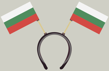 Witty headdress flags Bulgaria