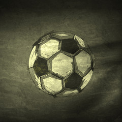 Sketch ink Soccer ball, easy editable