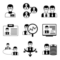 management, office icons