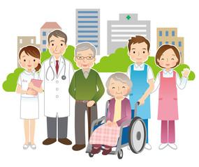 高齢者 医師 看護師 介護士