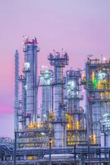 Twilight of industrial petroleum plant