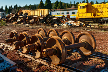 Train scrap yard
