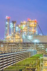 Twilight scene of Petroleum plant