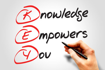 Knowledge Empowers You (KEY), business concept acronym