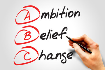 Ambition Belief Change (ABC), business concept acronym