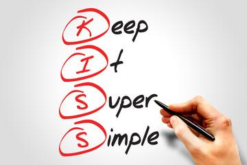 Keep It Super Simple (KISS), business concept acronym