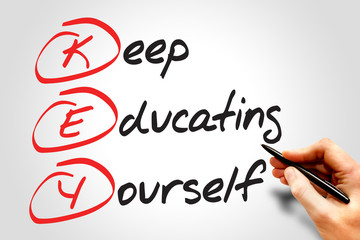 Keep Educating Yourself (KEY), business concept acronym