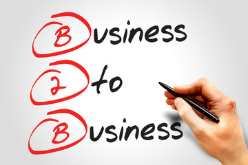 Business To Business (B2B), business concept acronym