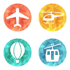 Airline service transport icons