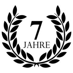 Lorbeerkranz. 7 jahre jubiläum