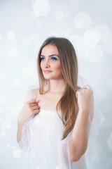 Winter beauty young woman portrait