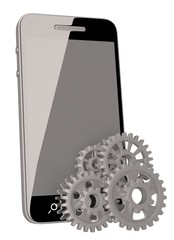 Mobile phone and gears