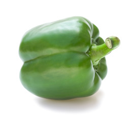 green bell pepper on a white background