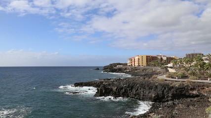 Tenerife beach coast Las Americas video