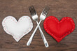 Valentine's Day - Abstract - Romantic dinner for two. - 76795774