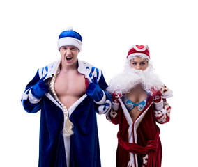 Grandfather Frost and Snow Maiden exchanged bodies