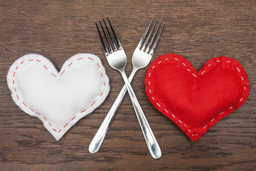 Valentine's Day - Abstract - Romantic dinner for two.